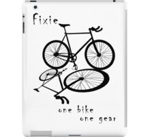 Fixie - one bike one gear (black) iPad Case/Skin