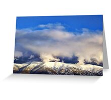 Winter Storm Over the Rockies Greeting Card