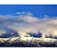 Winter Storm Over the Rockies Photographic Print