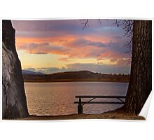 Lake Sunet View Poster