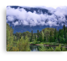 First Snow in the Flathead Canvas Print