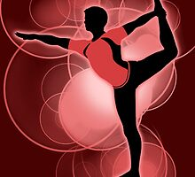 Super Smash Bros. Red Wii Fit Trainer (Male) Silhouette by jewlecho
