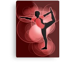 Super Smash Bros. Red Wii Fit Trainer (Male) Silhouette Metal Print