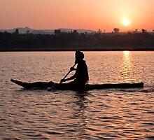 Sunrise on Lake Tana by Karen Millard