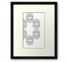Clockwise Scrolls Framed Print