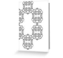 Clockwise Scrolls Greeting Card