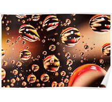 Floating Water droplets Poster