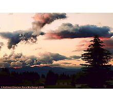 Big Mountain Evening Photographic Print