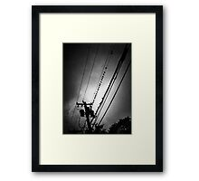 starling he screams in black and white Framed Print