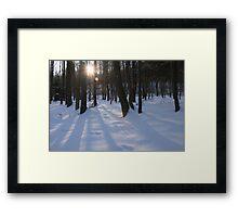 snowy heckingen mountain Framed Print