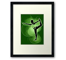 Super Smash Bros. Green Wii Fit Trainer (Female) Silhouette Framed Print