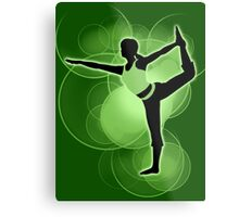 Super Smash Bros. Green Wii Fit Trainer (Female) Silhouette Metal Print