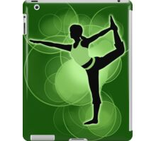 Super Smash Bros. Green Wii Fit Trainer (Female) Silhouette iPad Case/Skin