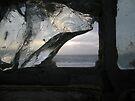 Ocean View Through Broken Window by waddleudo