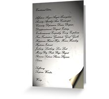 The Emotional Letter Greeting Card