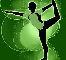 Super Smash Bros. Green Wii Fit Trainer (Male) Silhouette by jewlecho