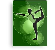 Super Smash Bros. Green Wii Fit Trainer (Male) Silhouette Metal Print