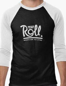 Let's Roll Brazilian Jiu-Jitsu White Belt Men's Baseball ¾ T-Shirt