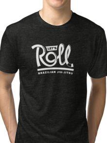 Let's Roll Brazilian Jiu-Jitsu White Belt Tri-blend T-Shirt