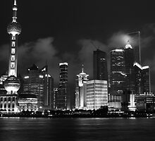 Shanghai Pudong Skyline by Peter Freier