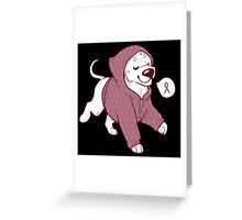 Breast Cancer Awareness Dog Greeting Card