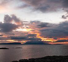 Sunset, Storm Clouds, Inner Hebrides by Hugh McKean