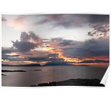 Sunset, Storm Clouds, Inner Hebrides Poster