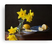 Daffodils and Lemons Canvas Print