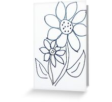 Crazy Daisey sketch, from series,Large and Small Greeting Card