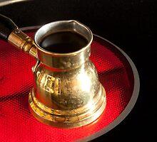 Arab small copper coffee pot  by IKGM