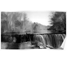 Waterfall at Jelliff Mill Poster