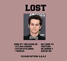 LOST POSTER - DYLAN O'BRIEN by alexdimech24