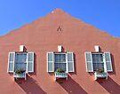 3 Windows - Bermuda by Debbie Pinard