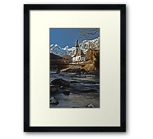 Ramsau Chapel, December 1985 Framed Print