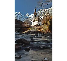 Ramsau Chapel, December 1985 Photographic Print