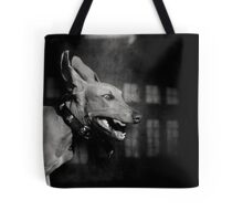 Dogs with game face on .27 Tote Bag