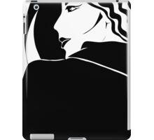Lady in black. Cool girl. iPad Case/Skin