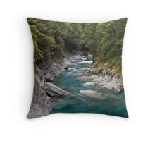 Blue Pools of Haast - New Zealand Throw Pillow