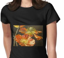 Poppies Too (detail) Womens Fitted T-Shirt