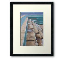 Ocean baths grandstand Framed Print