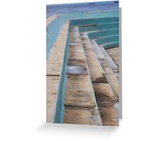 Ocean baths grandstand Greeting Card