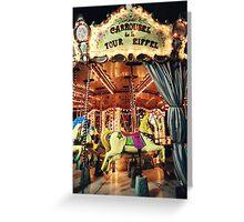Carrousel de la Tour Eiffel Greeting Card