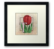 T is for Tulip Framed Print