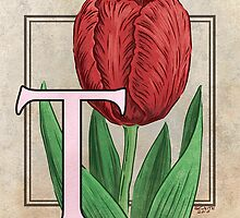 T is for Tulip card by Stephanie Smith