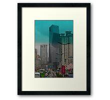 Gridlock in Shanghai Framed Print