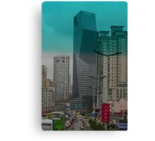 Gridlock in Shanghai Canvas Print
