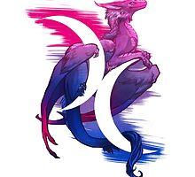 Bi Pride Dragon by kaenith