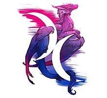 Bi Pride Dragon Photographic Print