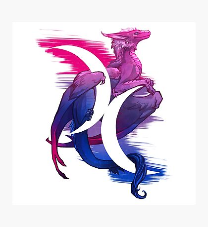 Bi Pride Dragon Photographic Print