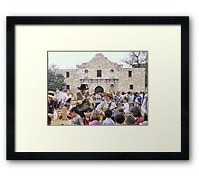 Entertaining the Crowd on Alamo Day Framed Print